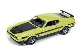 Ford  - Mustang Mach 1 1972 lime - 1:64 - Auto World - SP016B - AWSP016B | Tom's Modelauto's