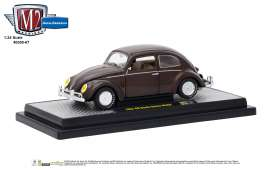 Volkswagen  - Beetle DeLuxe 1952 pearl brown - 1:24 - M2 Machines - 40300-67A - M2-40300-67A | Tom's Modelauto's