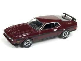 Ford  - Mustang Mach 1 1972 maroon/black - 1:64 - Auto World - SP011 - AWSP011 | Tom's Modelauto's