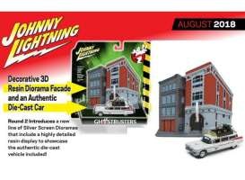 Cadillac  - Ecto 1A *Ghostbusters* white/red - 1:64 - Johnny Lightning - SP031 - JLSP031 | Toms Modelautos