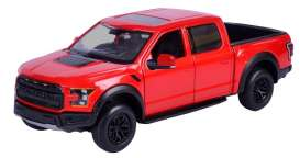 Ford  - F-150 Raptor 2017 red - 1:27 - Motor Max - 79344r - mmax79344r | Tom's Modelauto's