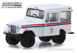 Jeep  - DJ-5 1971 white/red/blue - 1:64 - GreenLight - 29997 - gl29997 | Tom's Modelauto's