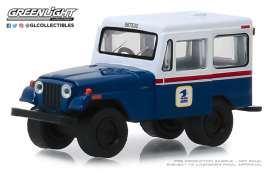 Jeep  - DJ-5 1971 blue/white/red - 1:64 - GreenLight - 29998 - gl29998 | Tom's Modelauto's