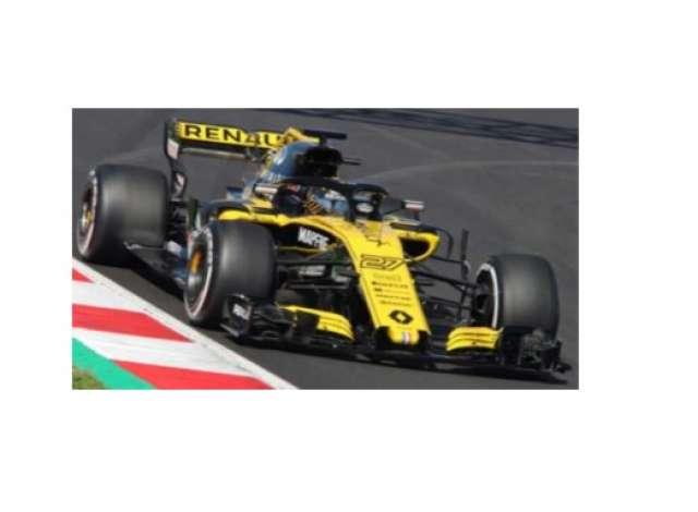 renault | r.s. 18 2018 yellow/black | 1:18 | spark | spa18s346