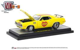 Plymouth  - Hemi Cuda 1971 yellow - 1:24 - M2 Machines - 40300-66A - M2-40300-66A | Tom's Modelauto's