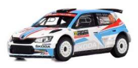 Skoda  - Fabia R5 2018 red/white/blue - 1:43 - IXO Models - ram664 - ixram664 | Tom's Modelauto's