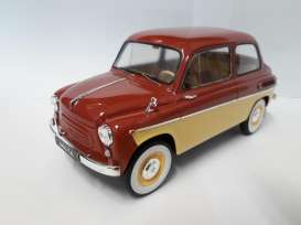 ZAZ  - 1963 Terracotta red/beige - 1:18 - Premium Scale Models - PSM18002B | Tom's Modelauto's