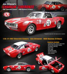 Chevrolet  - Camaro #71 1967 red/white/blue - 1:18 - Acme Diecast - 1805712 - acme1805712 | Toms Modelautos