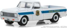 Chevrolet  - C10 1972 white/blue - 1:64 - GreenLight - 42860A - gl42860A | Tom's Modelauto's