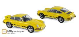 Porsche  - 911 RS 1973 yellow/black - 1:18 - Norev - 187638 - nor187638 | Tom's Modelauto's