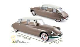 Citroen  - DS 19 1959 beige/silver - 1:12 - Norev - 121562 - nor121562 | Tom's Modelauto's