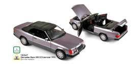 Mercedes Benz  - 300CE Cabriolet 1990 purple - 1:18 - Norev - 183567 - nor183567 | Tom's Modelauto's