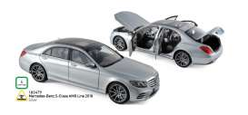 Mercedes Benz  - S-Class AMG Line 2018 silver - 1:18 - Norev - 183479 - nor183479 | Tom's Modelauto's