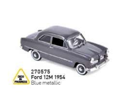 Ford  - 12M 1954 blue metallic - 1:43 - Norev - 270575 - nor270575 | Tom's Modelauto's