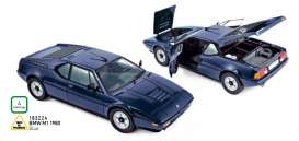 BMW  - M1 1980 blue - 1:18 - Norev - 183224 - nor183224 | Tom's Modelauto's