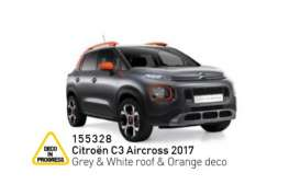 Citroen  - C3 Aircross 2017 grey/white/orange - 1:43 - Norev - 155328 - nor155328 | Toms Modelautos