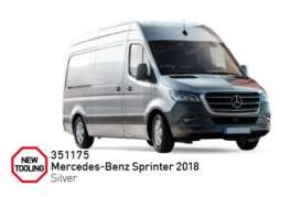 Mercedes Benz  - Sprinter 2018 silver - 1:43 - Norev - 351175 - nor351175 | Tom's Modelauto's