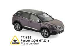Peugeot  - 3008 GT 2016 grey - 1:43 - Norev - 473888 - nor473888 | Tom's Modelauto's