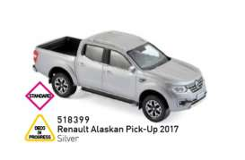 Renault  - Alaskan Pick-Up 2017 silver - 1:43 - Norev - 518399 - nor518399 | Tom's Modelauto's