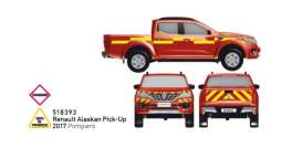 Renault  - Alaskan Pick-Up 2017 red/yellow - 1:43 - Norev - 518393 - nor518393 | Tom's Modelauto's