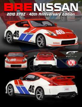 Nissan  - 370Z 2010 red/white - 1:18 - GT Spirit - US013 - GTUS013 | Tom's Modelauto's