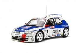 Peugeot  - 306 Maxi 1996 white/blue - 1:18 - OttOmobile Miniatures - 664 - otto664 | Tom's Modelauto's