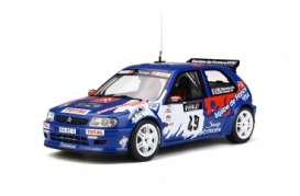 Citroen  - Saxo  1999 blue/white/red - 1:18 - OttOmobile Miniatures - 596 - otto596 | Tom's Modelauto's