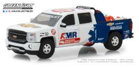 Chevrolet  - Silverado 2018 white/blue - 1:64 - GreenLight - 29991 - gl29991 | Tom's Modelauto's