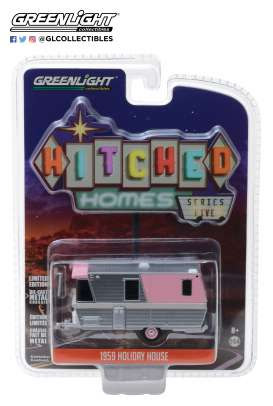 Holiday House  - 1959 pink/silver - 1:64 - GreenLight - 34050C - gl34050C | Tom's Modelauto's