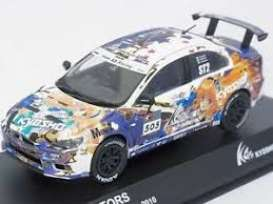 Mitsubishi  - Lancer 2010 white/purple/yellow - 1:43 - Kyosho - 3495X - kyo3495X | Tom's Modelauto's