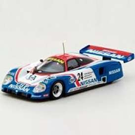 Nissan  - 1989 blue/white/red - 1:64 - Kyosho - 6431B - kyo6431B | Tom's Modelauto's