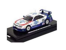 Nissan  - GT-R R33 2007 blue/white/red - 1:64 - Kyosho - 6651A - kyo6651A | Tom's Modelauto's