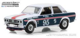 Datsun  - 510 1969 blue/white - 1:64 - GreenLight - 47020A - gl47020A | Tom's Modelauto's