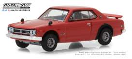 Nissan  - Skyline 2000 GTS-R 1972 red - 1:64 - GreenLight - 47020E - gl47020E | Tom's Modelauto's