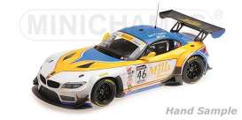 BMW  - Z4 GT3 2016 yellow/white - 1:18 - Minichamps - 151162346 - mc151162346 | Tom's Modelauto's