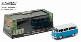 Volkswagen  - 1971 blue/white - 1:43 - GreenLight - 86471 - gl86471GM | Tom's Modelauto's