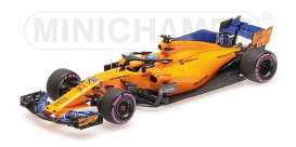 McLaren Renault - MCL33 2018 yellow-orange - 1:43 - Minichamps - 537184714 - mc537184714 | Tom's Modelauto's