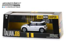 Mini  - Cooper S 2003 white/black stripes - 1:43 - GreenLight - 86548 - gl86548 | Tom's Modelauto's