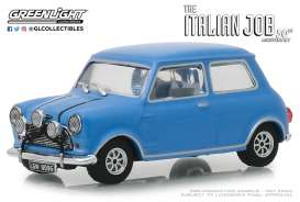 Austin  - Mini Cooper S 1967 blue/black straps - 1:43 - GreenLight - 86549 - gl86549 | Tom's Modelauto's