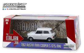 Austin  - Mini Cooper S 1967 white/black straps - 1:43 - GreenLight - 86551 - gl86551 | Tom's Modelauto's