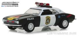 Chevrolet  - Camaro 1969 white/black - 1:64 - GreenLight - 42870A - gl42870A | Tom's Modelauto's