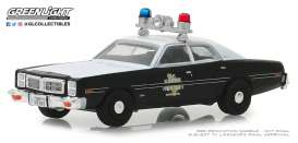 Dodge  - Monaco 1977 black - 1:64 - GreenLight - 42870B - gl42870B | Tom's Modelauto's