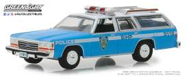 Ford  - LTD Crown 1988 blue/white - 1:64 - GreenLight - 42870C - gl42870C | Tom's Modelauto's