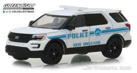 Ford  - Police Interceptor Utility 2016 white/blue - 1:64 - GreenLight - 42870E - gl42870E | Tom's Modelauto's