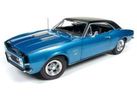 Chevrolet  - Camaro SS 1967 blue - 1:18 - Auto World - AMM1118 - AMM1118 | Tom's Modelauto's