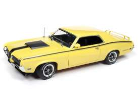 Mercury  - Cougar 1970 yellow/black - 1:18 - Auto World - AMM1155 - AMM1155 | Tom's Modelauto's