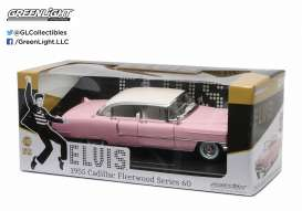 Cadillac  - Fleetwood series 60 *Elvis* 1955 pink/white - 1:18 - GreenLight - 12950 - gl12950 | Toms Modelautos