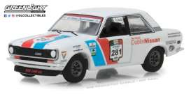 Datsun  - 510 1972 blue/white/red - 1:64 - GreenLight - 35110A - gl35110A | Tom's Modelauto's