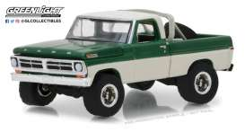 Ford  - F-100 1971 grey/green - 1:64 - GreenLight - 35110B - gl35110B | Tom's Modelauto's