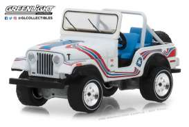 Jeep  - CJ-5 1976 white/red/blue - 1:64 - GreenLight - 35110C - gl35110C | Tom's Modelauto's